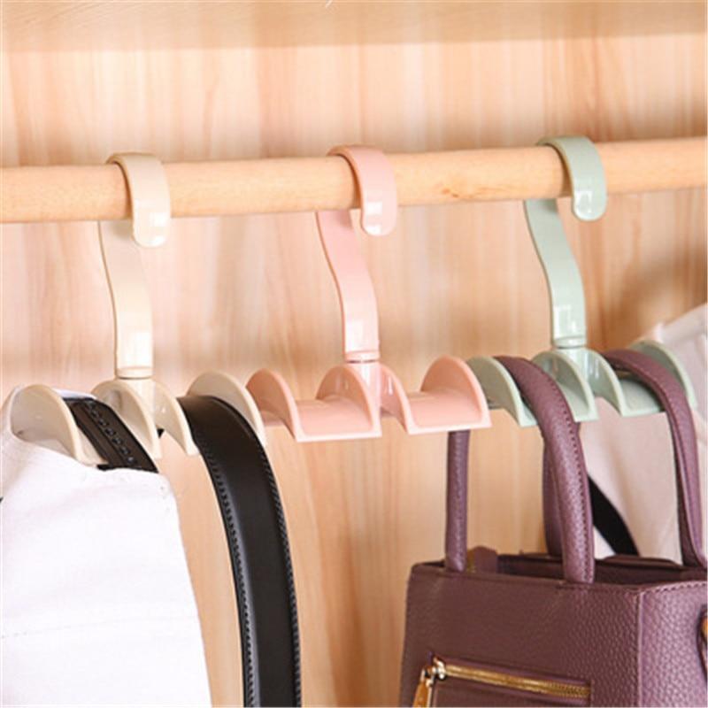 Storage Rack Tie Belt Organizer Space Saver Rotating Scarf Ties Hanger Holder Hook Closet Organization Tank Tops Bra Belts Bag