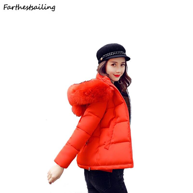 2018 Women Winter Jacket Girl Cute Short Cocoon Coat Female Warm Ear