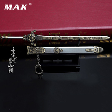 22cm Alloy Diecast Sword 1/6 Scale Ancient Weapon Model Toy Sword with Scabbard 12 inches Action Figure Figure Doll Accessory цена в Москве и Питере