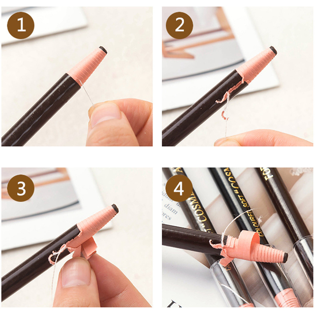5 Coloured Soft 1818 Eyebrow Pencil Cosmetic Art 1818 Waterproof Microblading Pen Long-lasting Eyebrow Enhancer Makeup Tools 4