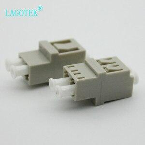 Image 2 - 50PCS LC UPC Duplex  Fiber optic Adapter High low type  LC Optical fiber coupler LC UPC Fiber flange SC connector Free shipping