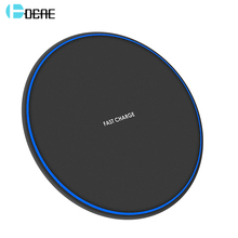DCAE Portable Quick Charging Qi Wireless Charger For iPhone X XS Max XR 8 Plus 10W Fast Charge USB Pad for Samsung S8 S9 Note 9