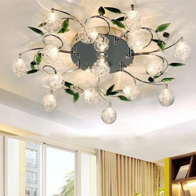 Modern ceiling lights crystal led ceiling light fixture flower lamp modern ceiling lights crystal led ceiling light fixture flower lamp shade bedroom balcony lustre luminaire home aloadofball Images