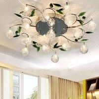 Nowoczesne lampy sufitowe kryształowe led sufitowe światła kuchnia oprawa lampa w kształcie kwiatka odcień balkon do sypialni oprawa lustre oświetlenie domu w Oświetlenie sufitowe od Lampy i oświetlenie na