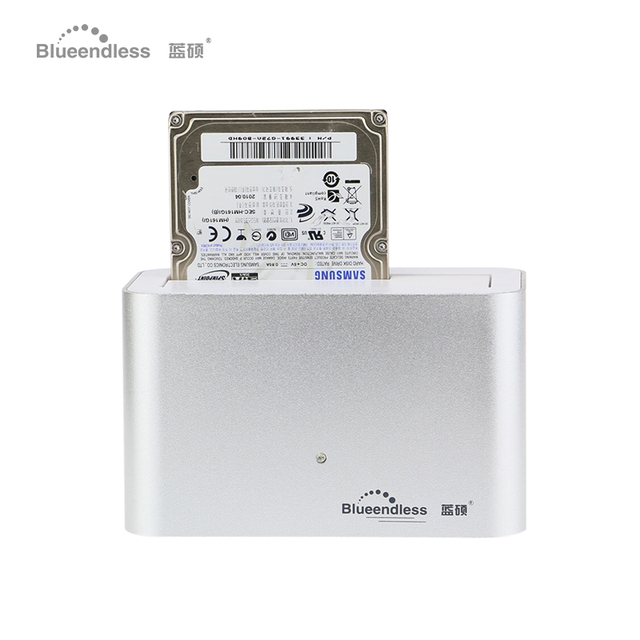 "2.5 hdd usb 3.0 5 GBPS 3.5 ""estación de muelle de SATA hdd Aluminio 1 Bahía de disco duro externo 1 tb Estación de Acoplamiento de Plata Color"