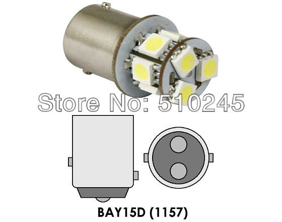Free shipping 10x car led s25 p21/5W bay15d 1157 8 led smd 5050 8smd 3CHIPS brake stop light bulb lamp WHITE RED YELLOW