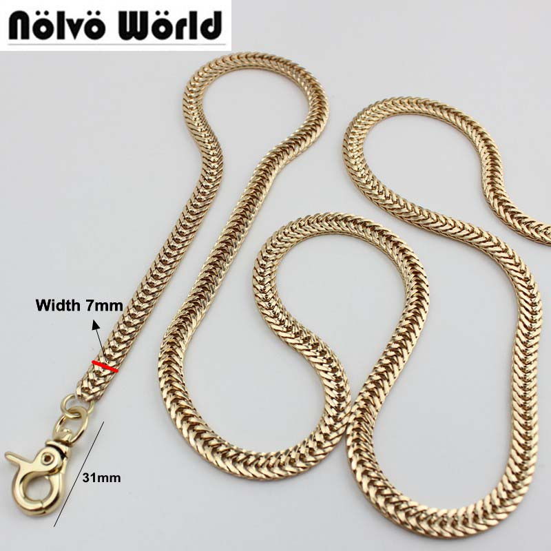 7mm Width DIY Accessory Factory Directly TOP Quality Plating Cover Wholesale DIY Chains Bags Purses Strap From