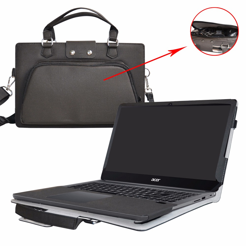 2 in 1 Accurately Designed Protective PU Leather Cover + Portable Carrying Bag For 15.6 ACER SWIFT 3 SF315-51G series Laptop roocase netbook carrying bag for acer cromia ac761 11 6 inch hd chromebook wi fi 3g deluxe series