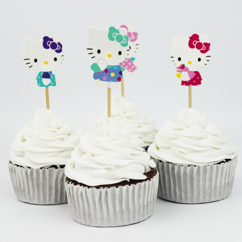 24pcsset Hello Kitty 1st Birthday Party Favors Decorations For