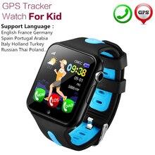 Смарт-часы детей V5K gps местоположение спорт ребенок Smartwatch Водонепроницаемый Поддержка sim-карты Камера безопасности Многоязычная телефон
