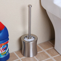 Double thick Durable Type Toilet Stainless Steel Toilet Brush Holder Set for Bathroom Bath
