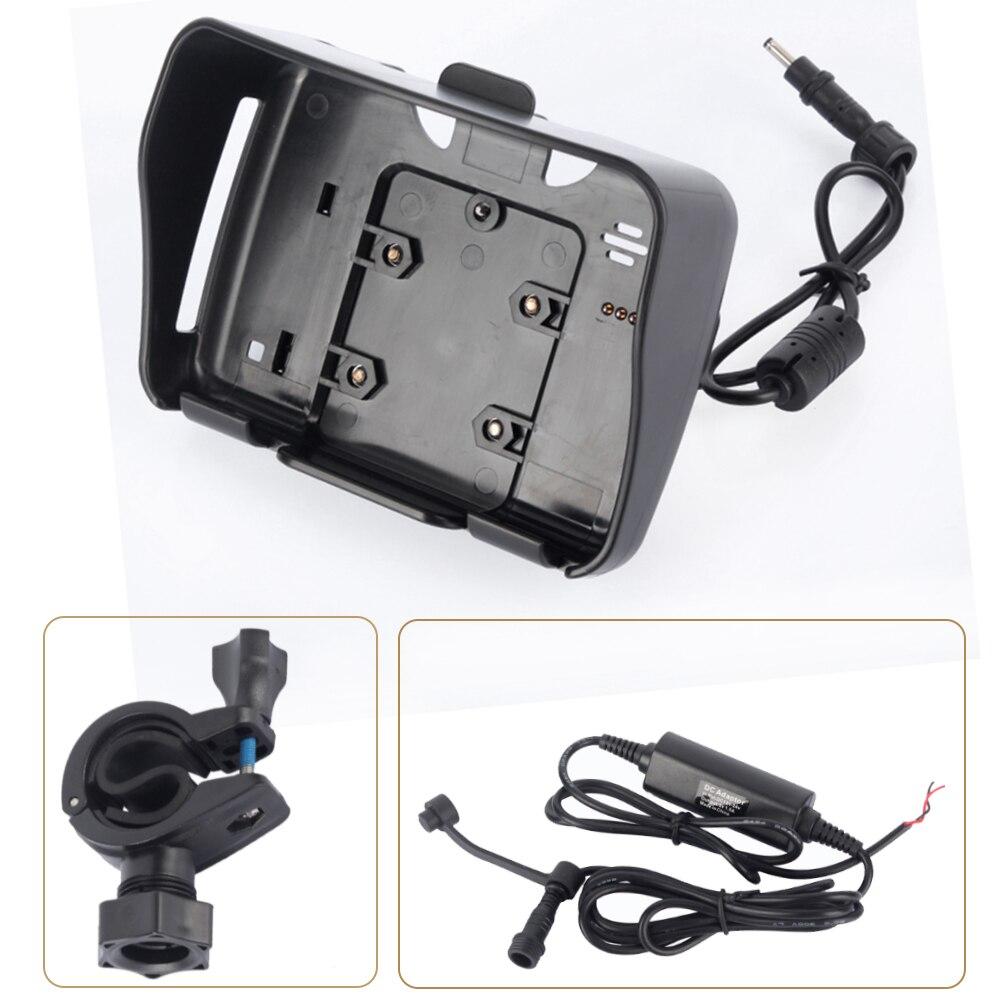 1 Juego de accesorios Moto GPS de 4,3 pulgadas, 1 soporte de horquilla + 1 cable de alimentación + 1 soporte de montaje adecuado para navegación de motos deportivas
