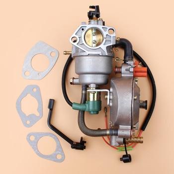 Dual Fuel Manual Choke Carburetor Gasket Kit For HONDA GX390 GX 390 Chinese 190F 188F Engine Motor Generator Gasoline CNG LPG carburetor conversion kit for honda gx160 168f ec2500 c cl cx series generator genset gasoline lpg cng dual fuel
