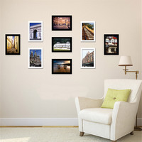 9pcs/set 7 inch Wall Photo Frame Set European Style Resin Picture Frames Modern Wall Photos For Living Room Home Wall Decoration