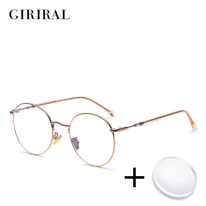 Metal women prescription glasses vintage colored sight transparent myopia computer reading optical clear eyeglasses #58017