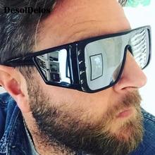Luxury Brand Oversized Shield sunglasses for men square big frame sun glasses women 2019 windproof Cool Black Eyewear