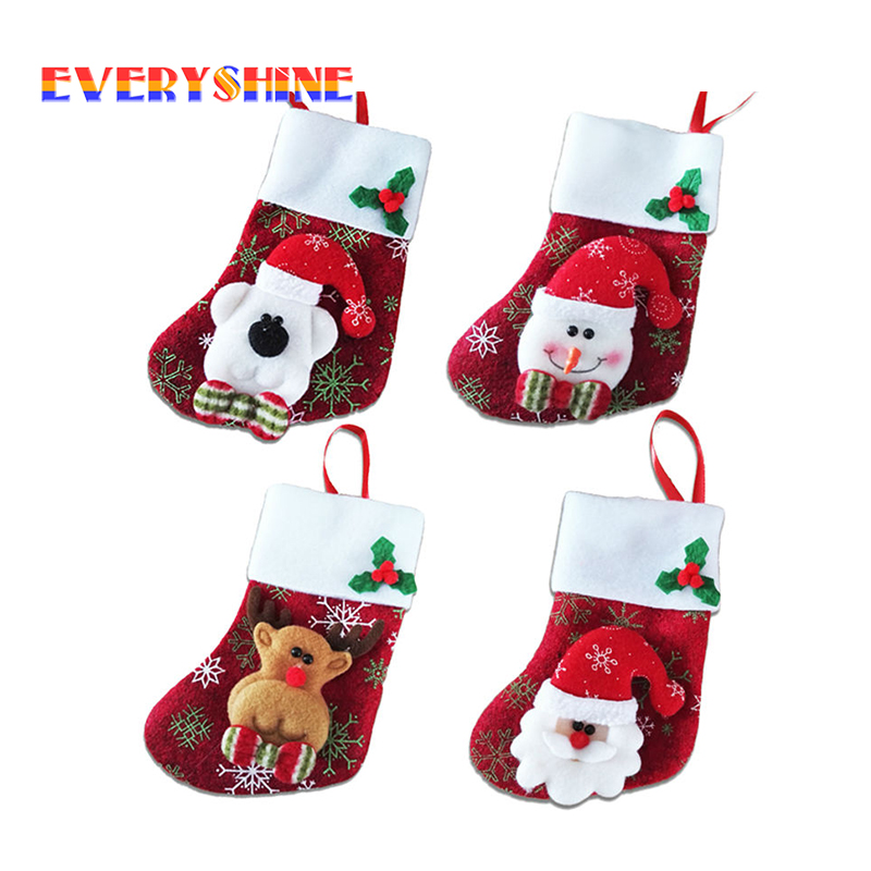 Cheap For Sale 1pcs Santa Claus Gift Holders Xmas Tree
