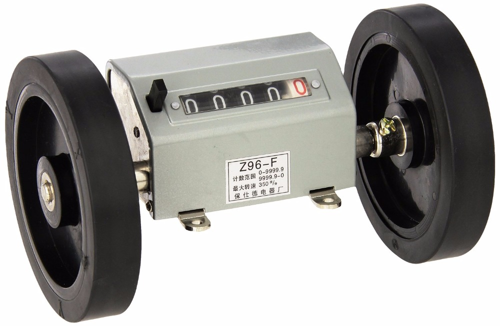 Z96-F Mechanical Length Counter Meter Counter Rolling Wheel 1-9999.9M free shiping z96 f 5 digit meter counter mechanical length measure counter instrument used to measure length