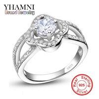 GALAXY Fine Jewelry 925 Silver Wedding Rings For Women Fashion 6mm 1 Carat Simulated Diamond Zircon