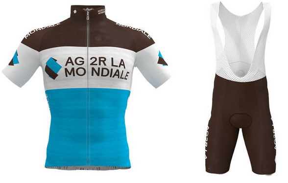 2019 Ag2r Pro Team Men Cycling Jersey Short Sleeve Bicycle Clothing With Bib Shorts Quick Dry