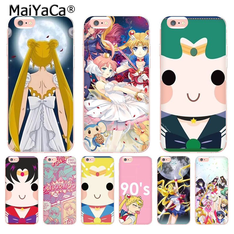 Half-wrapped Case Conscientious Maiyaca Lovely Cute Sailor Moon Cartoon Coque Phone Case For Iphone 8 7 6 6s Plus X 10 5 5s Se 5c 4 4s Coque Shell Xs Xr Xsmax