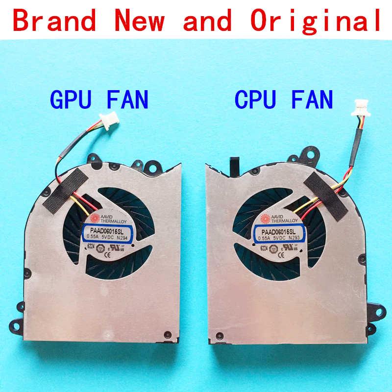 Вентилятор для процессора ноутбука охладитель Тетрадь ПК для MSI GS60 6QD 6QE 6QC 2QE 2PE 2 шт 2QD 2PL GPU E322500025A0 PAAD06015SL N294 N293