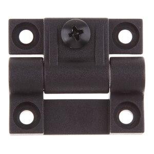 Image 1 - 1.65x1.42 אינץ 4 Countersunk חורים מתכוונן מומנט עמדת בקרת ציר שחור דלת צירים להחליף עבור Southco E6 10 301 20