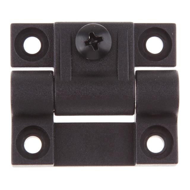 1.65x1.42 אינץ 4 Countersunk חורים מתכוונן מומנט עמדת בקרת ציר שחור דלת צירים להחליף עבור Southco E6 10 301 20