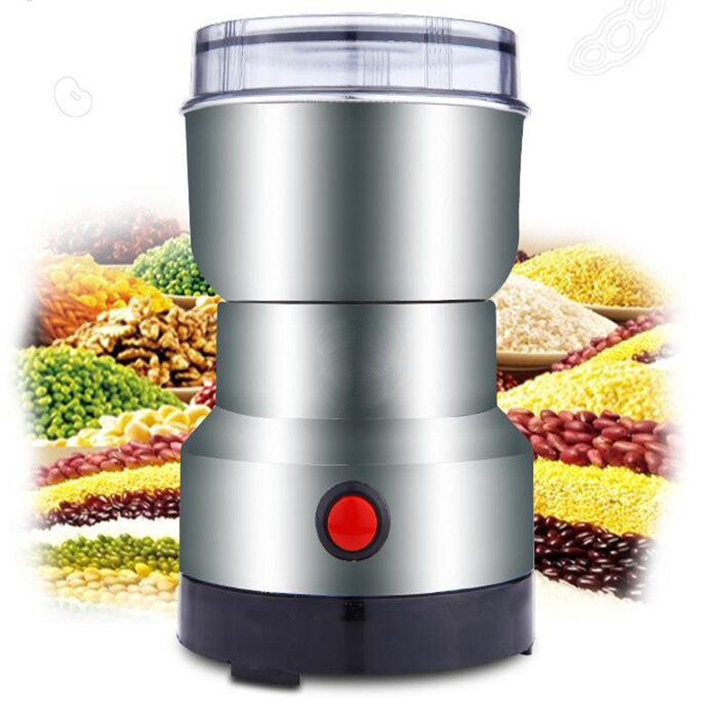 220V Automatic Electric Powder Grinder Machine Household Coffee Sesame Pepper Mill Grinder Dry Grinding Powder Machine EU/AU/UK цена и фото