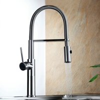 Free Shipping Becola New Design Kitchen Faucet Brass Chrome Pull Down Kitchen Mixer 360 Swiver Sink