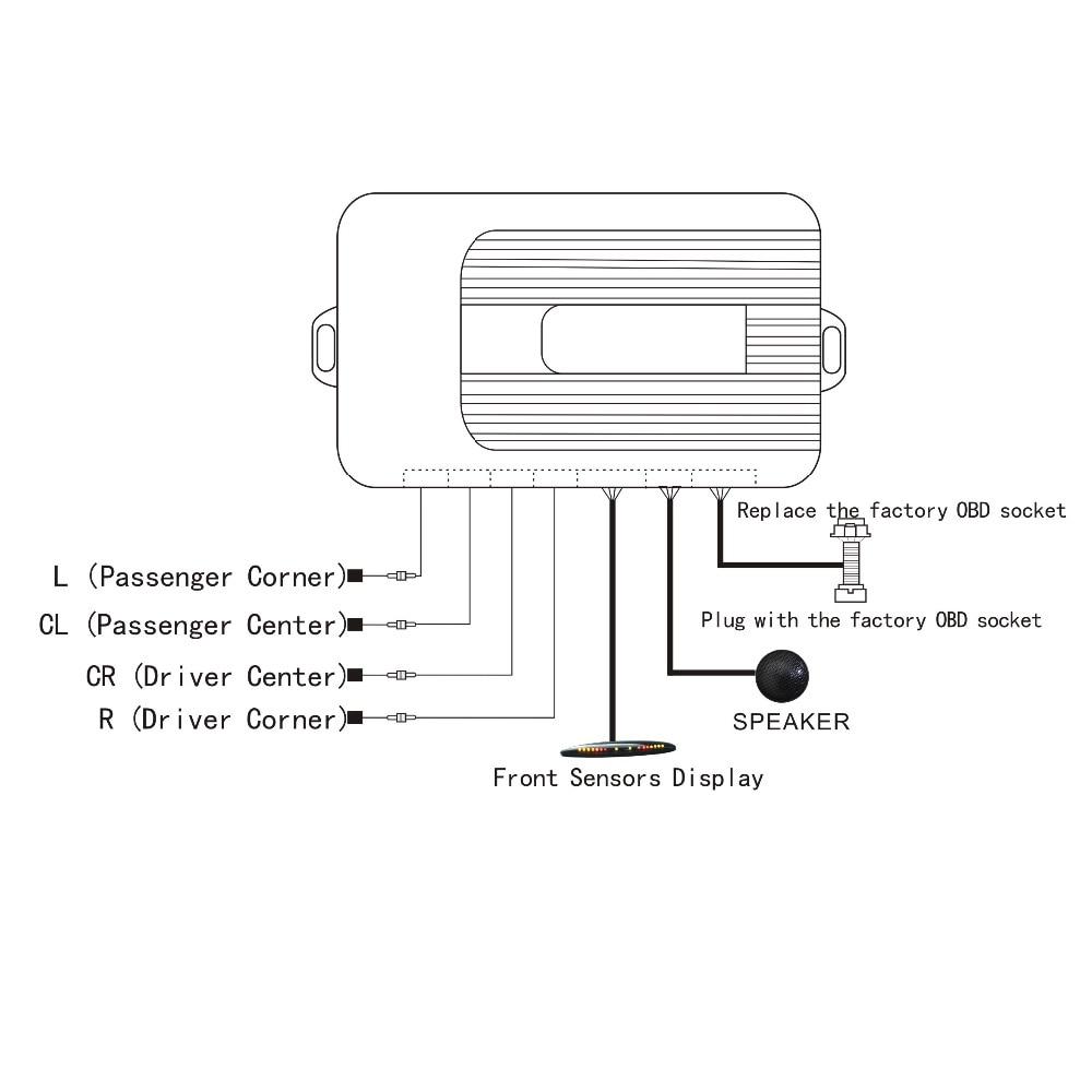 Sürətli idarə olunan ön parkinq sensörü OBD Plug & Play No Tel - Avtomobil elektronikası - Fotoqrafiya 5