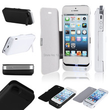 Black/White Portable Charger Power Bank 4200mah External Battery Pack For iPhone 5/5S With Protect Cover