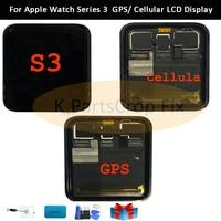 Gps + Сотовая связь оригинал для Apple Watch, версии 3, ЖК дисплей Дисплей Сенсорный экран планшета Series3 S3 38 мм/42 мм Замена Бесплатный подарок