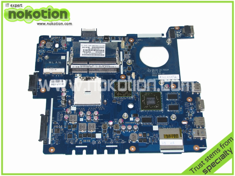 LA-7552P Laptop motherboard for Asus K53TU53F Series schematic 60-N71MB2200-A01 QBL60 ATI HD 6630M grapics