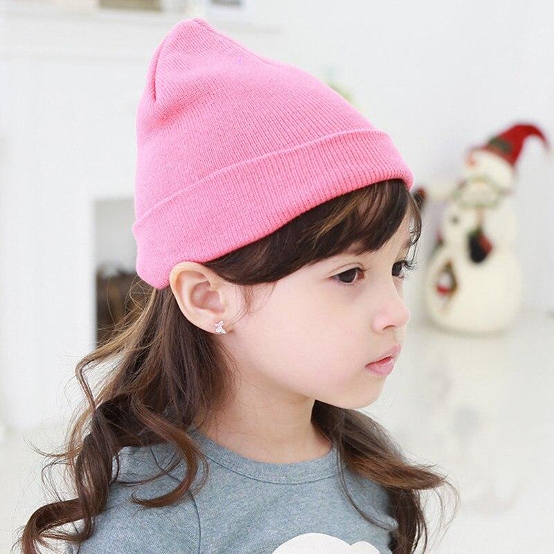 Новые модные зимние теплые детские Шапки маленьких Кепки для детей зимняя вязаная шапка детская брендовая одежда для мальчиков Обувь для д...