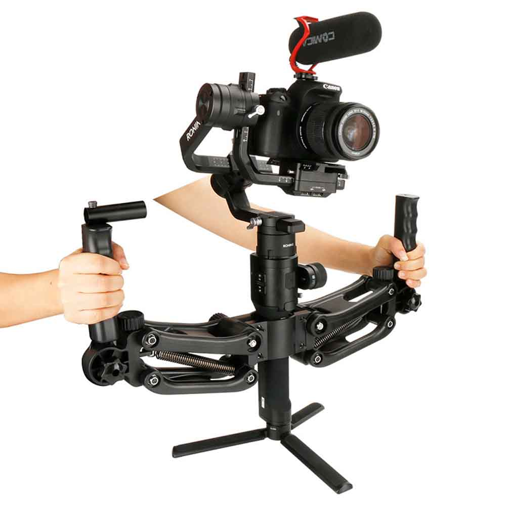 Professional 5 Axis Dual Handle Camera Stabilizer 4.5KG Load Handheld Gimbal Grip For Dji Zhiyun Crane 2 Plus Photography Studio