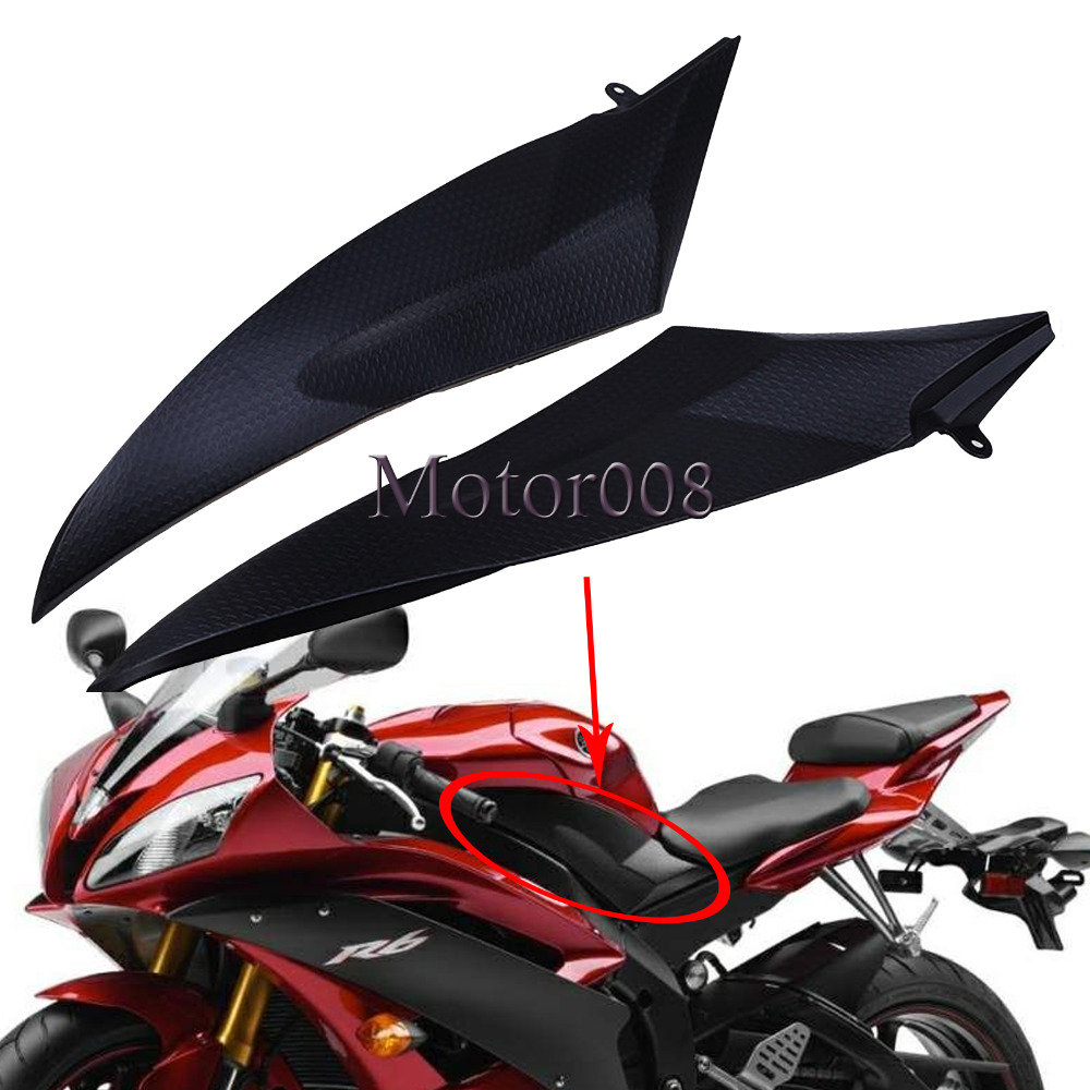 Tank Side Covers Panels Fairing For Yamaha YZF R6 2006 2007 YZF-R6 06 07 YZFR6 Tank Side Cover Panel hot sales yzf600 r6 08 14 set for yamaha r6 fairing kit 2008 2014 red and white bodywork fairings injection molding
