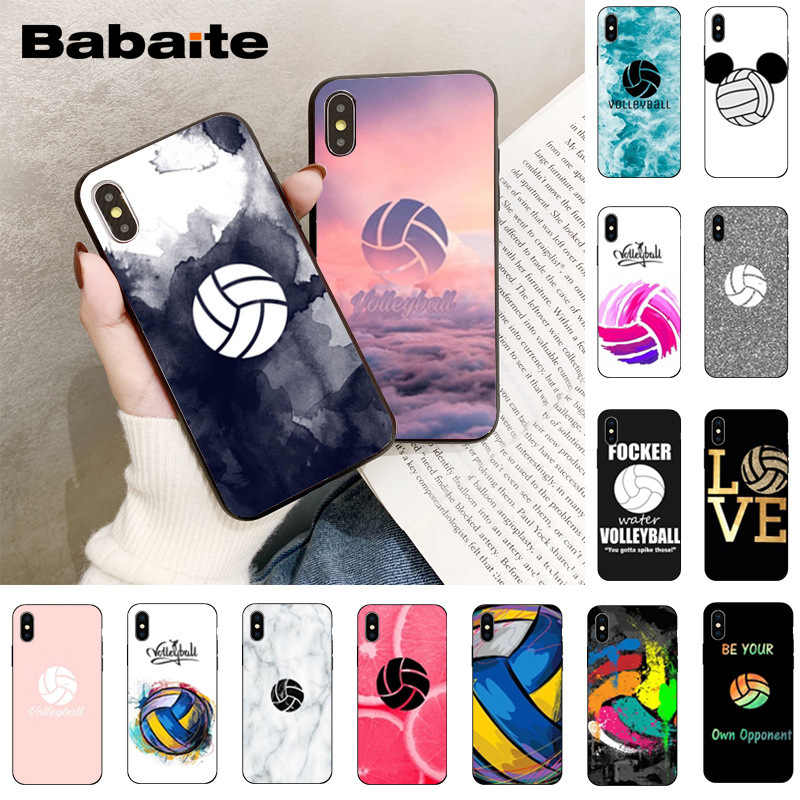 Babaita I Love Volleyball Tpu Soft Silicone Phone Case For Iphone X Xs Max 6 6s 7 7plus 8 8plus 5 5s Se Xr 11 11pro 11promax Phone Case Covers Aliexpress