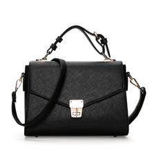 Women Bag Vintage Handbag Casual Tote Fashion Messenger Bags Shoulder Top-Handle Purse Leather 2018 New Black Blue