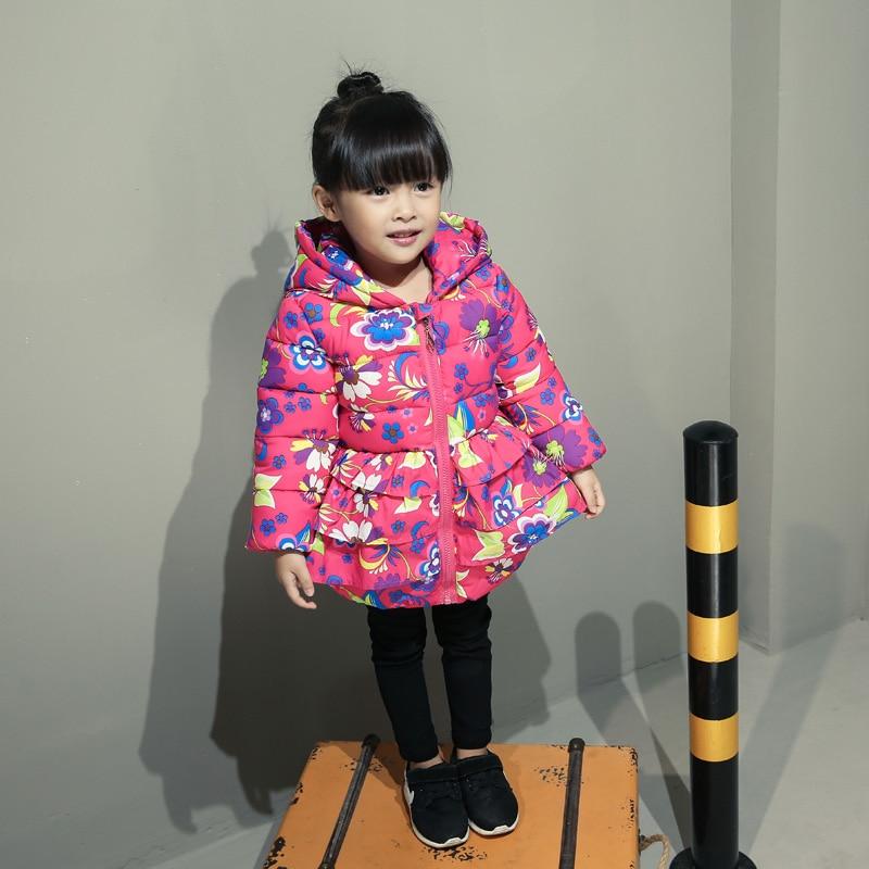 1 2 3 4 kadın çocuk wadded ceket 2016 kış küçük kız çocuk pamuk-yastıklı ceket kalınlaşma bebek pamuk-yastıklı