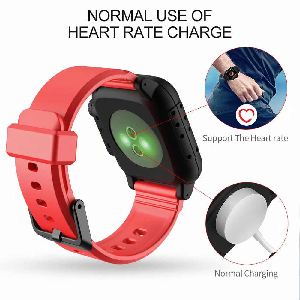check out a76ba d91e9 Waterproof Silicone Strap For Apple Watch band case 42mm Sport Iwatch  Series 3 2 wrist belt watchbands+Protective cover