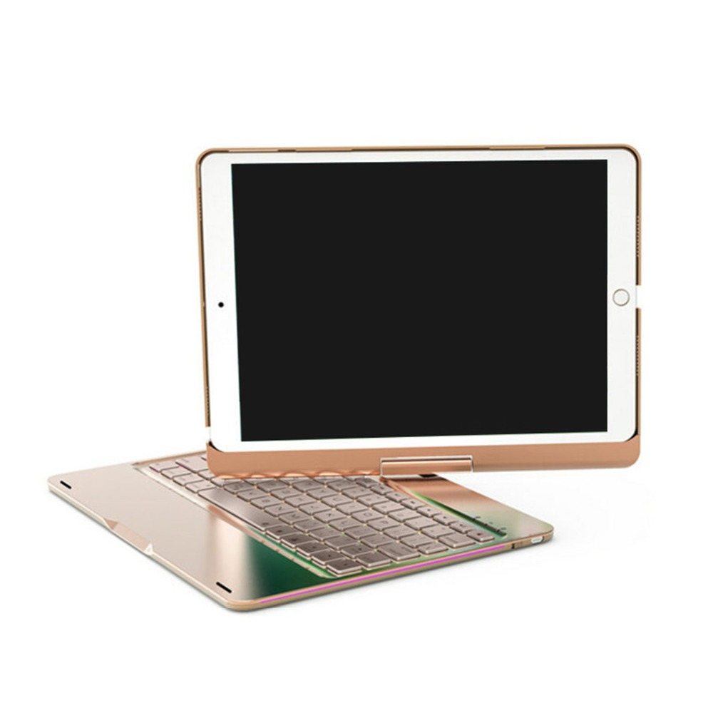 Wireless Bluetooth Aluminum Keyboard Case For IPAD PRO 9 7 10 5 Inch 360 Degree Keyboard