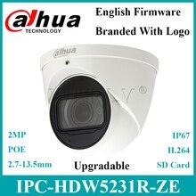 Dahua Cámara de tipo globo ocular WDR IPC HDW5231R ZE, 2MP, micrófono incorporado, Starlight, IR50m, IPC HDW5231R Z de reemplazo con logotipo Dahua