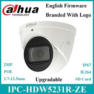Dahua IPC-HDW5231R-ZE 2MP WDR Eyeball камера Встроенный микрофон Starlight IR50m Замена IPC-HDW5231R-Z IPC-HDW5831R-ZE с логотипом Dahua