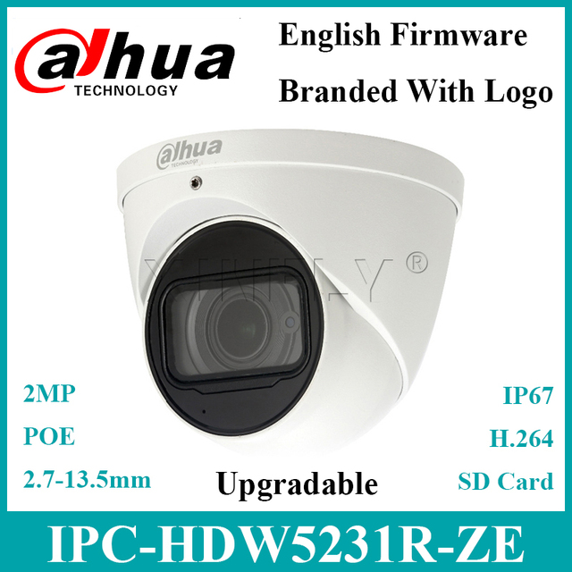 Dahua IPC HDW5231R ZE 2MP WDR Eyeball Camera Built in MIC Starlight IR50m Replace IPC HDW5231R Z IPC HDW5831R ZE with Dahua Logo
