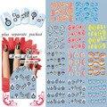 2015 BeautyNailArt 90 Hoja/lot Ala Serie Nail Art Sticker Fashion Nail Art Producto para el agua nail art stickers sistema de desarrollo de CONOCIMIENTOS de uñas ESCULPIDAS