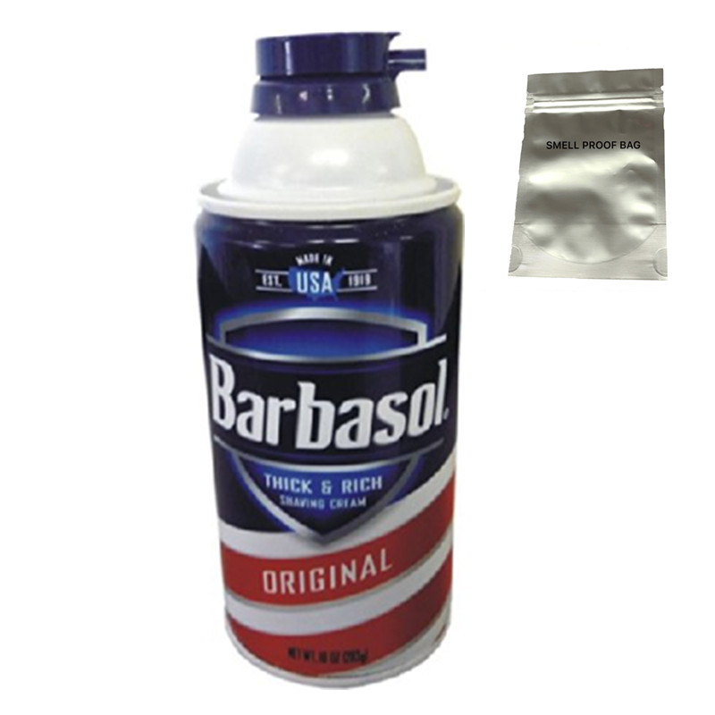 BARBASOL Can Diversion Safe Hidden Home Security Secret Compartment Hide Jewelry With A Food Grade Smell Proof Bag