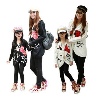 3261e56f8eff Family Matching Outfits,Spring/autumn Children jackets mother/Mom and  daughter/Girl/Baby,children Coat kids clothing Plus Size