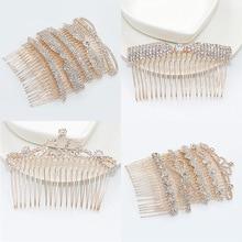 Womens luxury hairpin temperament elegant headwear bow Crown Sun flower Diamond bangs hair comb