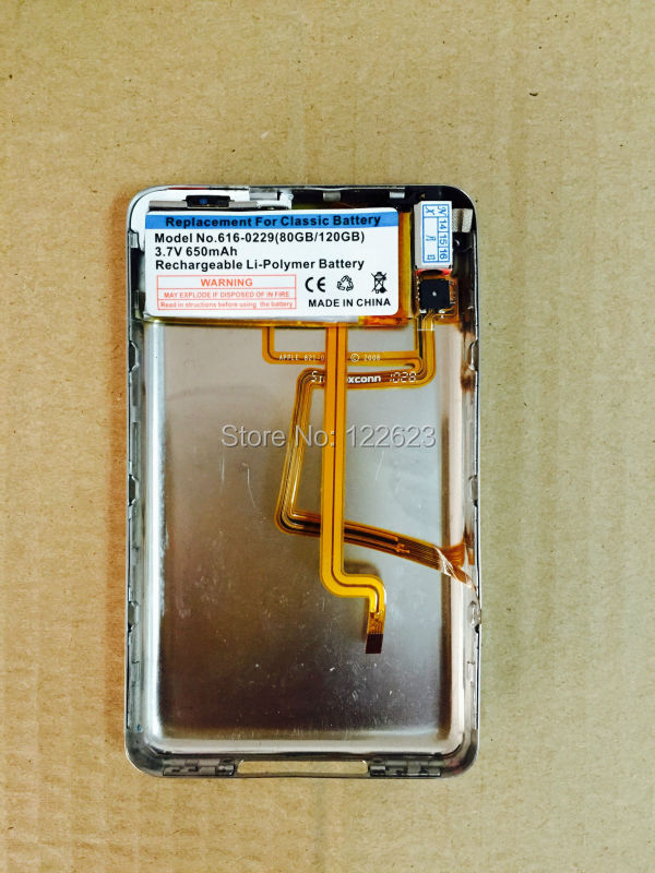 Back cover+headphone jack for iPod Classic 6th 80gb 120gb// 7th 160gb